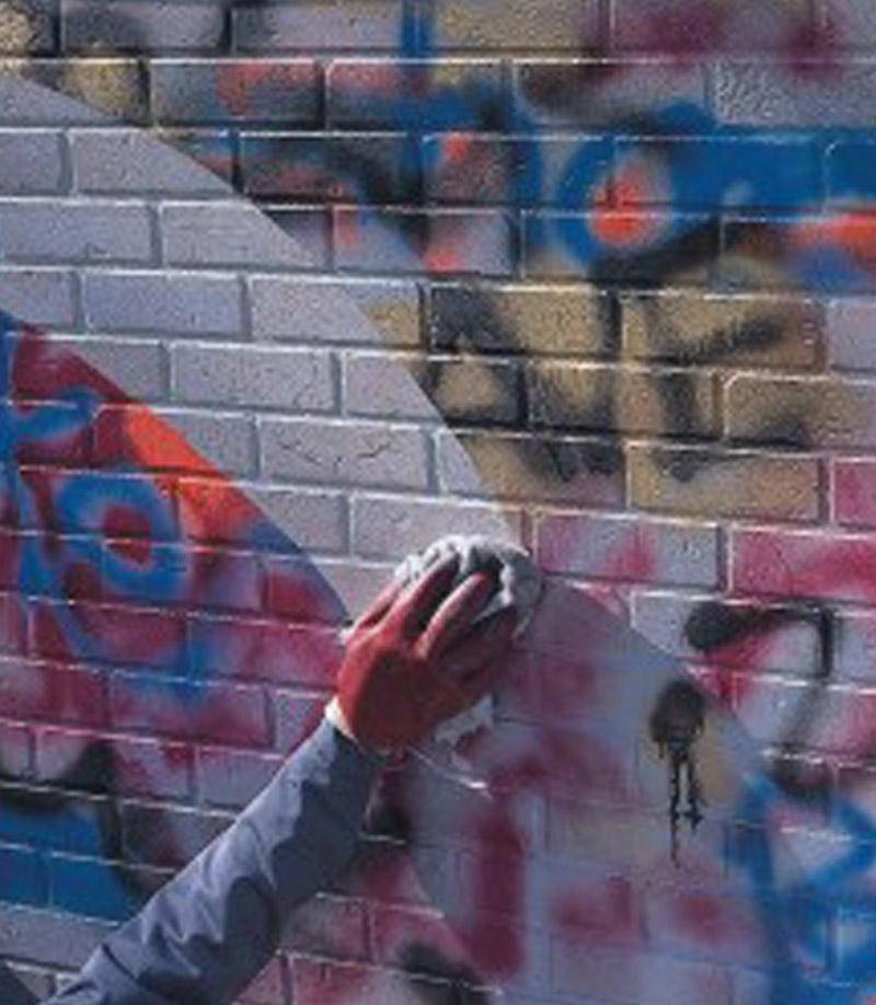 Καθαρισμός graffiti και προστασία